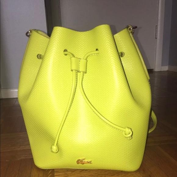 d24e058dd88 Lacoste Bags | Brand New Chantaco Bucket Bag | Poshmark